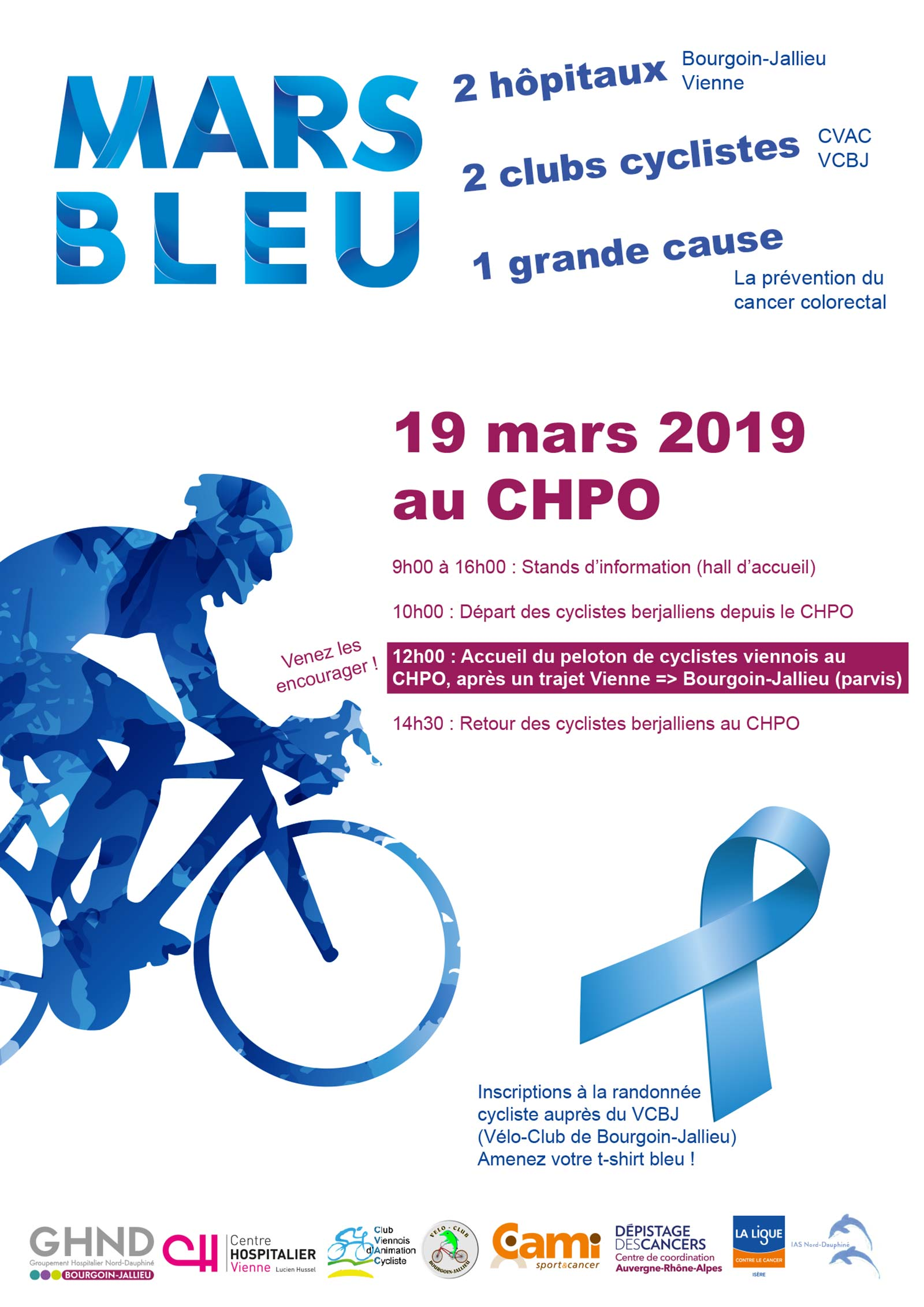 Mars Bleu au CHPO Bourgoin-Jallieu