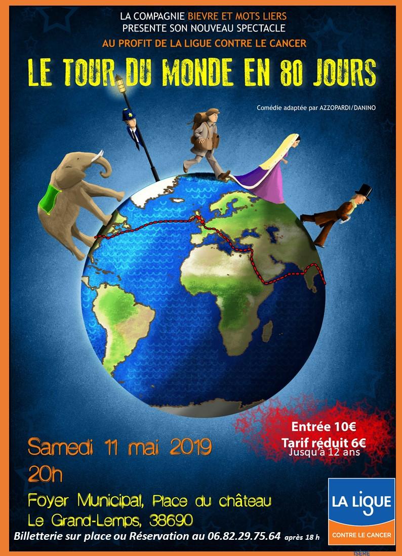 Théâtre Le Grand Lemps Le Tour du monde en 80 jours