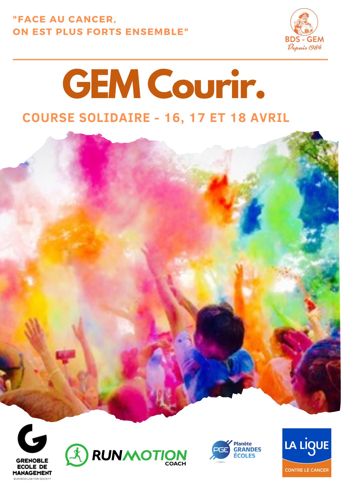 GEM Courir Ligue contre le cancer avril 2021