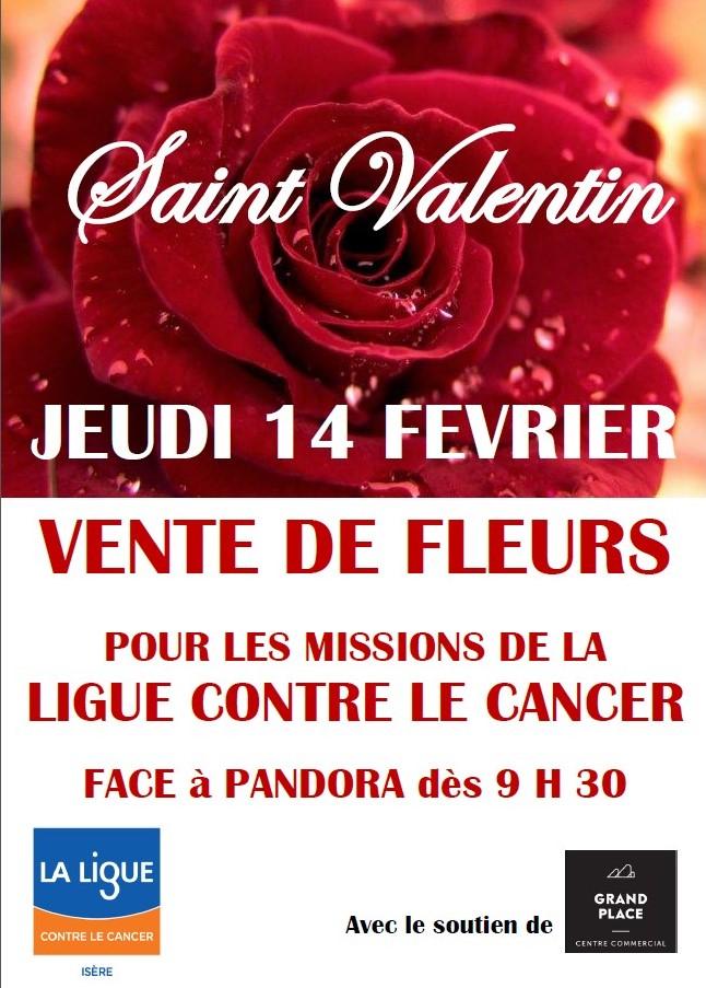 Saint Valentin une rose pour les missions de la Ligue contre le cancer