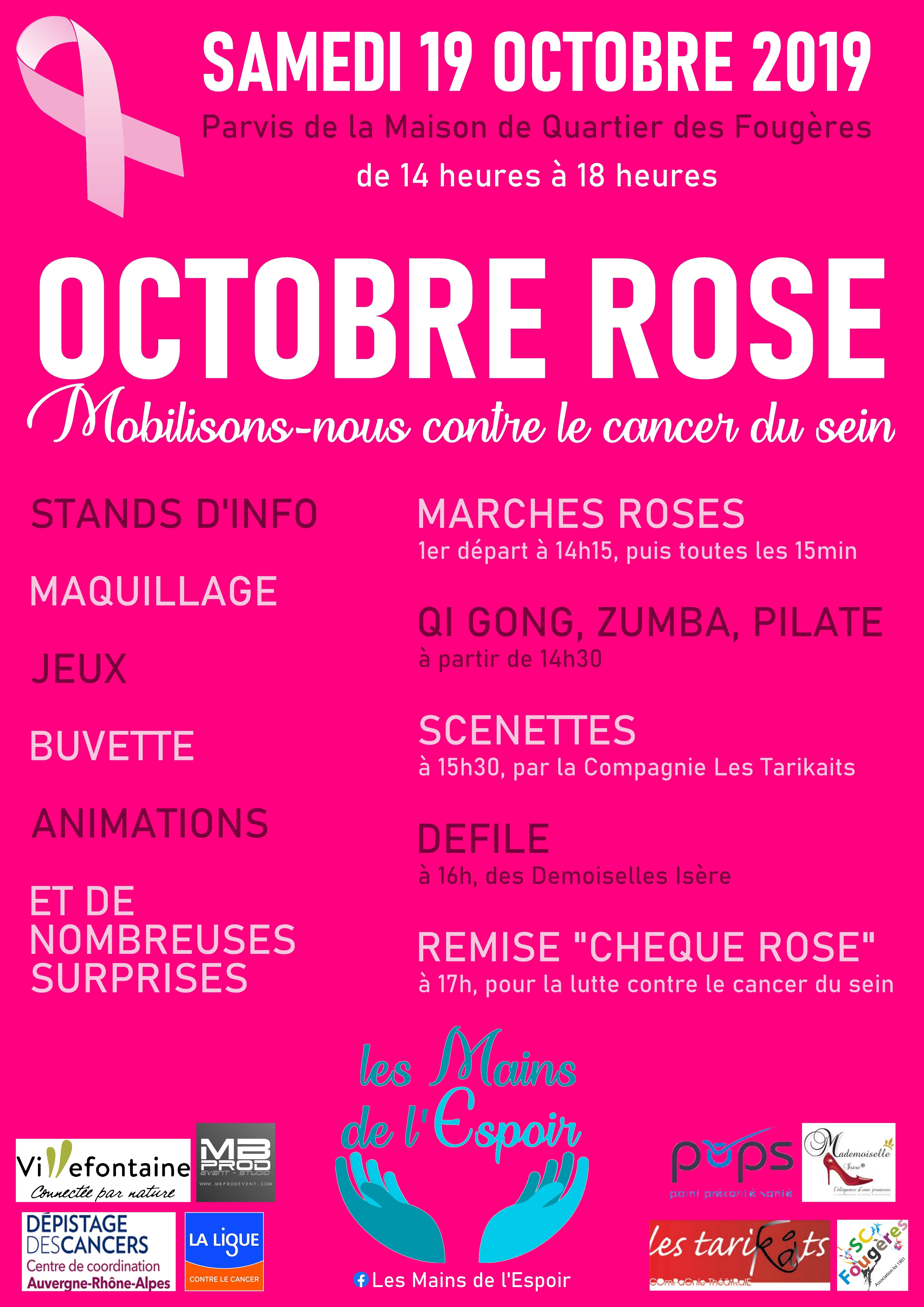 Les Mains de l'Espoir Octobre Rose 2019