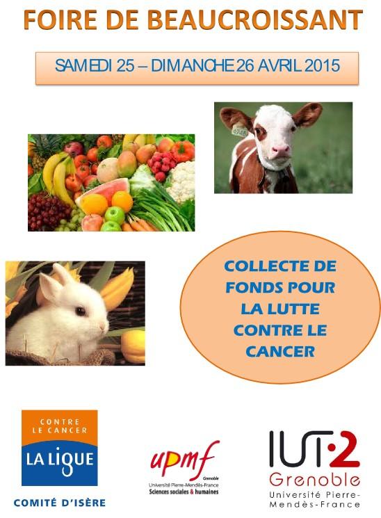 Le Comité de l' Isère Ligue Contre le Cancer à la Foire de Beaucroissant