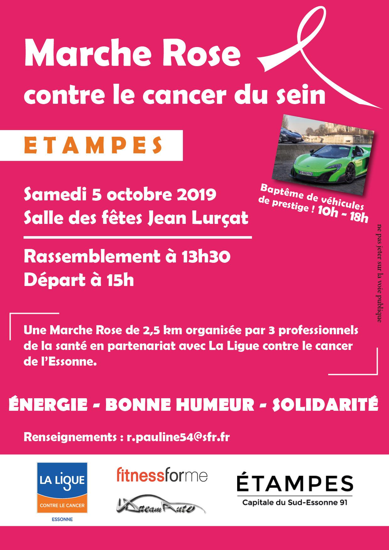 programme marche rose Etampes 2019