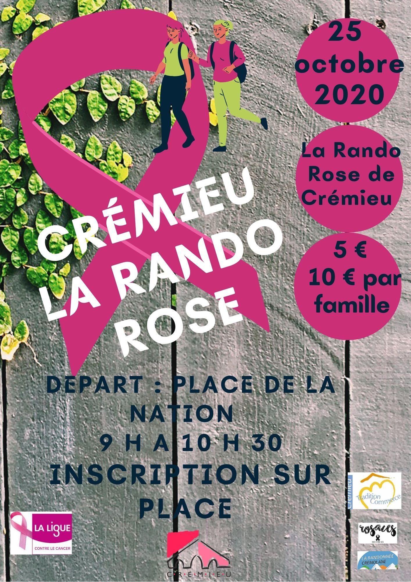 RANDO ROSE Crémieu 25 OCTOBRE 2020