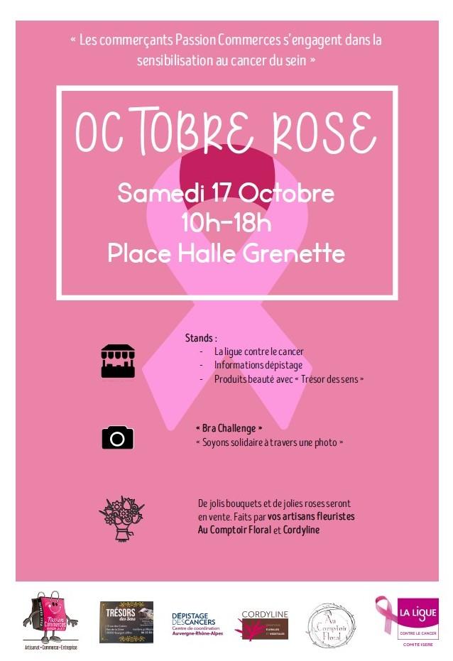 Octobre Rose à Bourgoin Jallieu