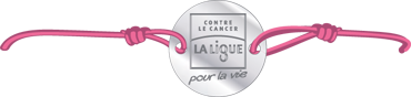 Bracelet rose Ligue contre le cancer