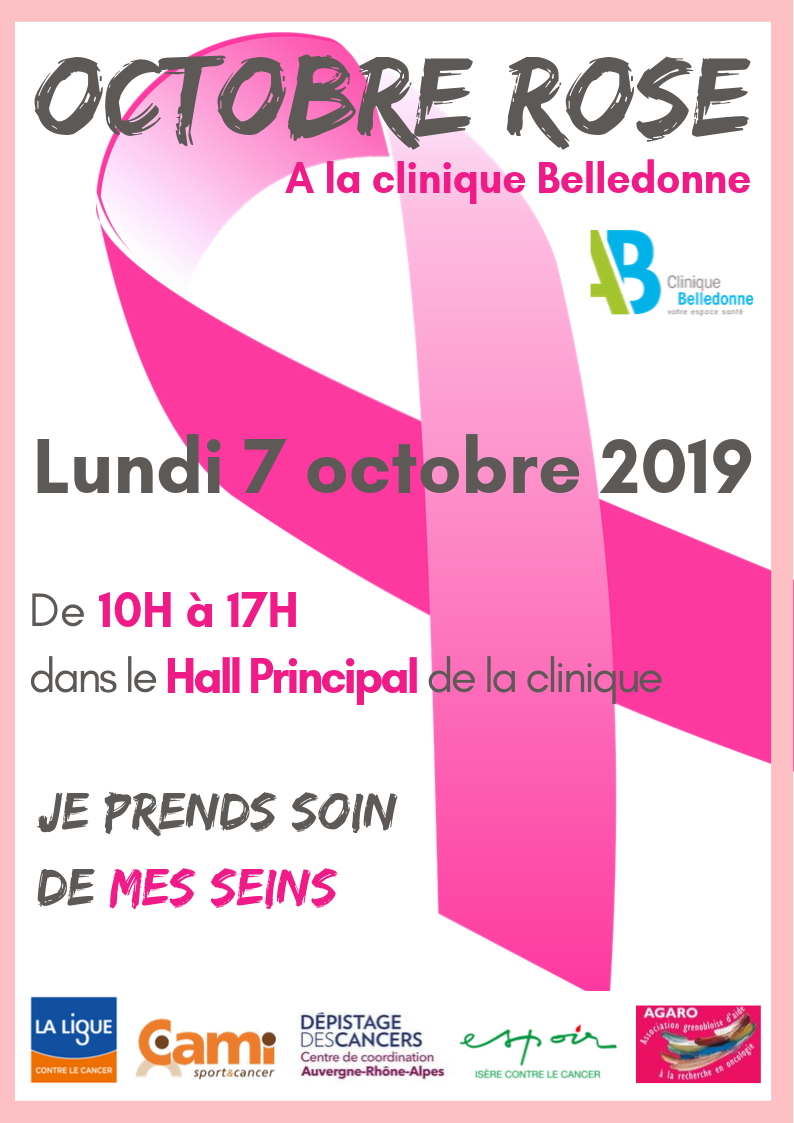 Octobre Rose 2019 Clinique Belledonne