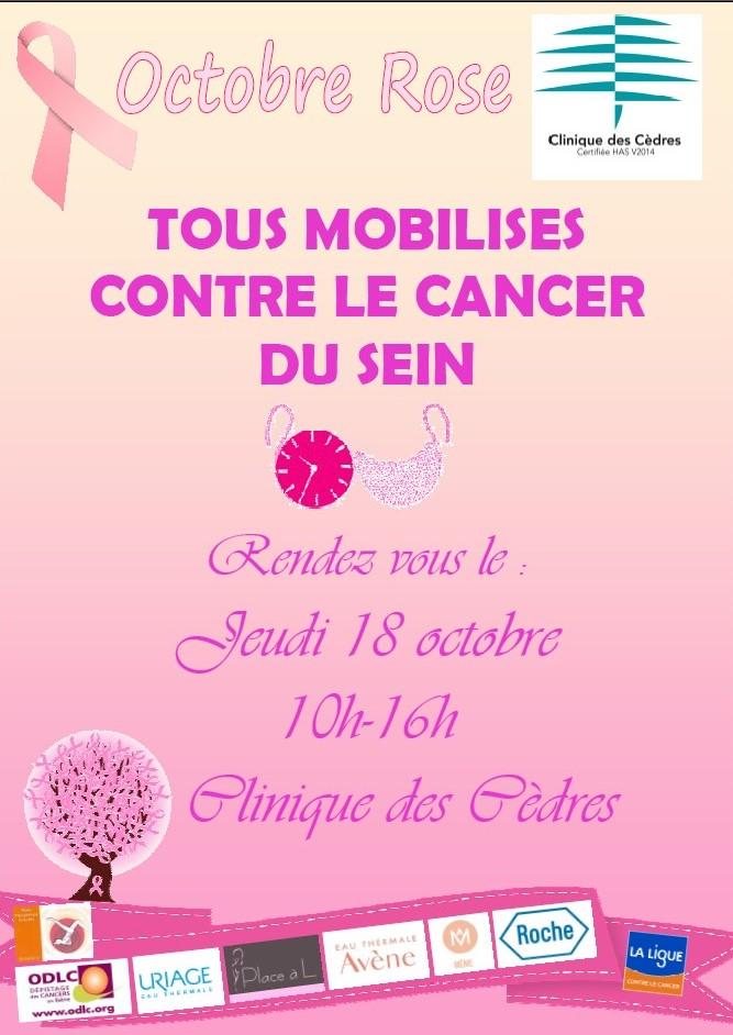 Clinique des Cèdres Octobre Rose 2018
