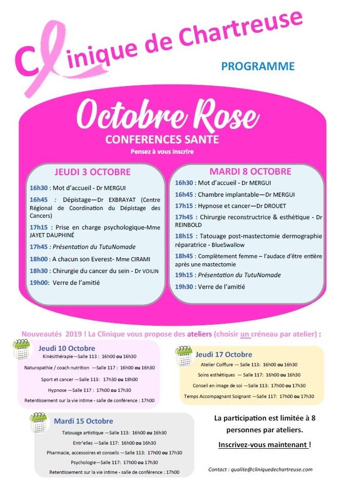 Octobre Rose 2019 Clinique de Chartreuse Voiron