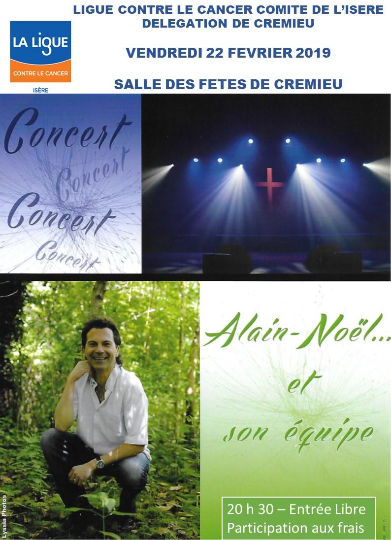 Concert Alain Noël à Crémieu