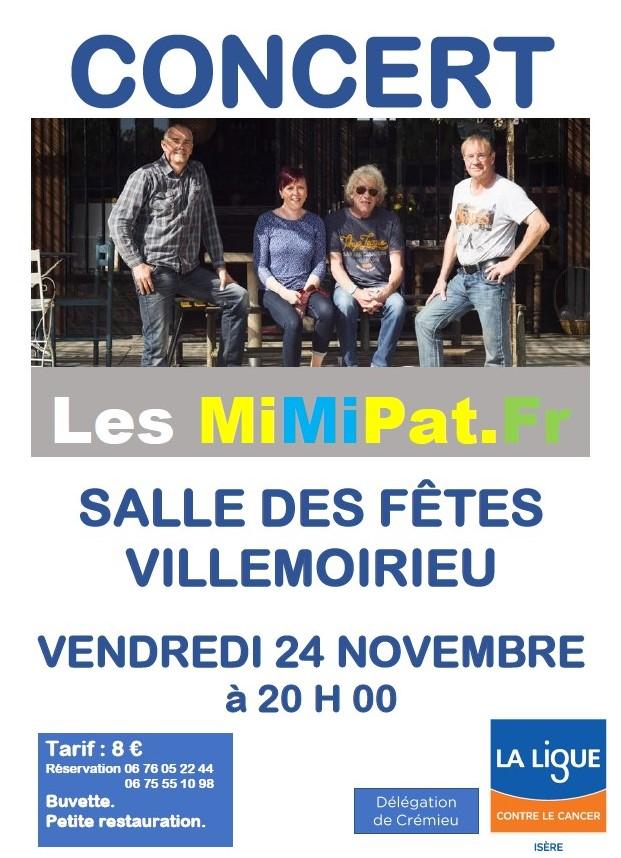 concert MiMipat Villemoirieu 24 novembre 2017