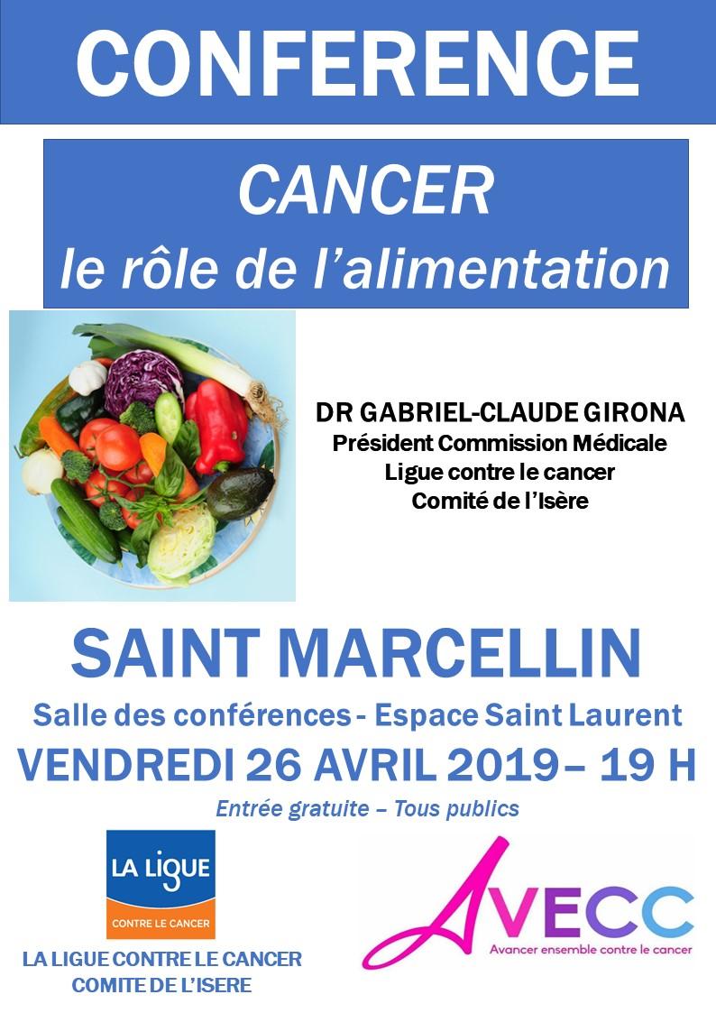 Conférence St Marcellin Alimentation et Cancer