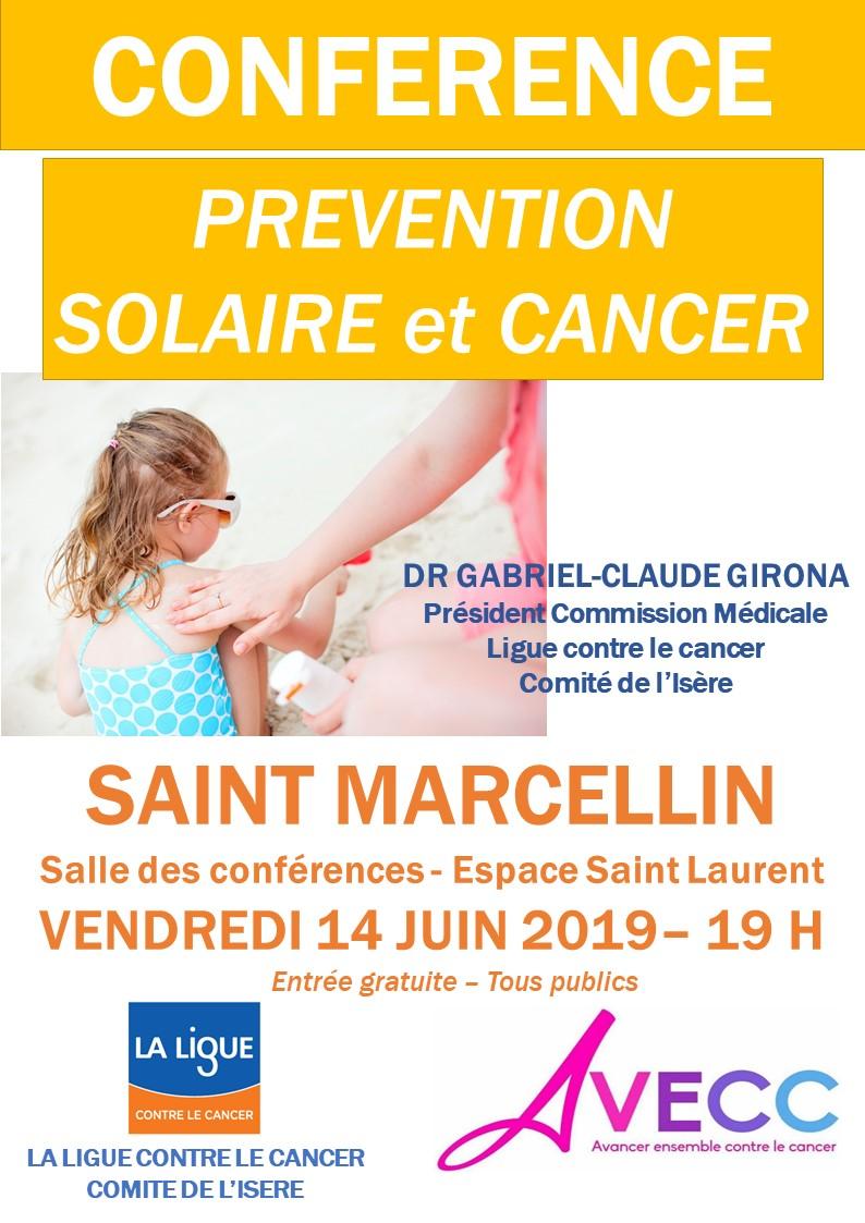 Conférence St Marcellin Prévention Solaire et Cancer