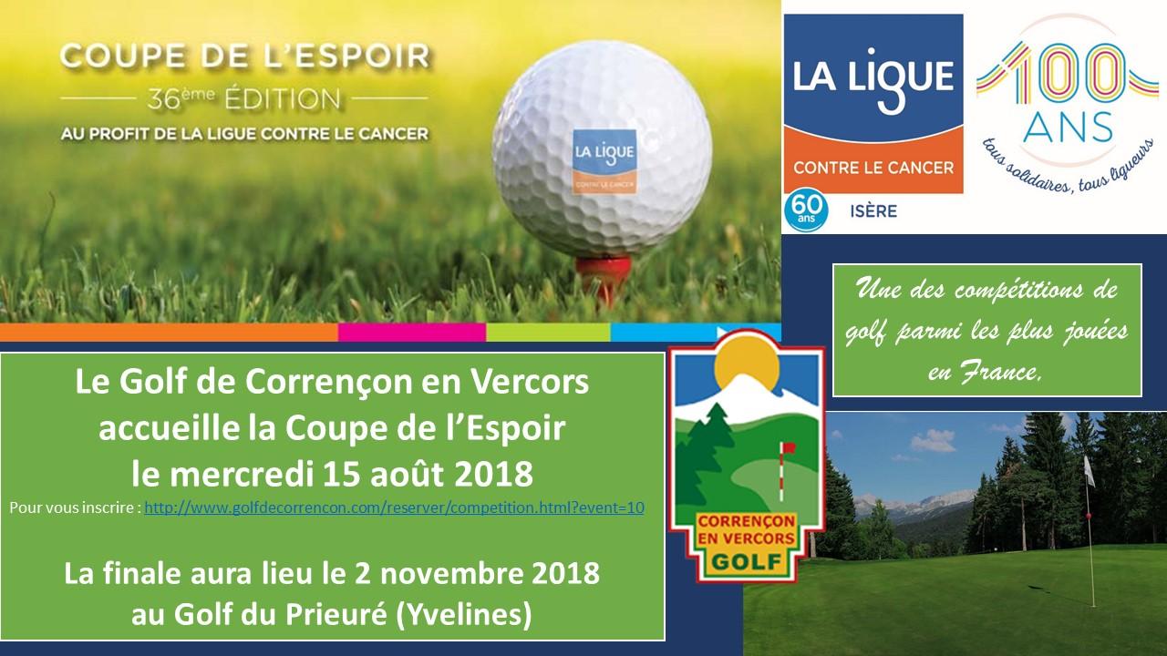 Coupe de l'Espoir 2018 Golf de Corrençon en Vercors