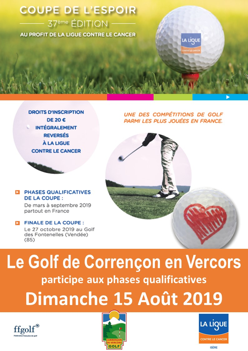 Coupe de l'Espoir 2019 Golf de Corrençon en Vercors