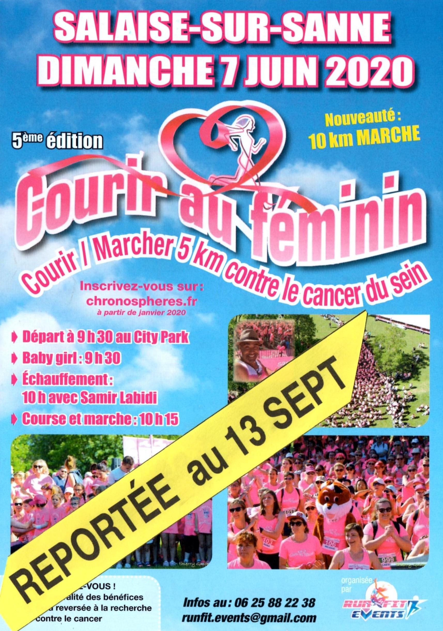 Courir au Féminin à Salaise sur Sanne le 13 septembre