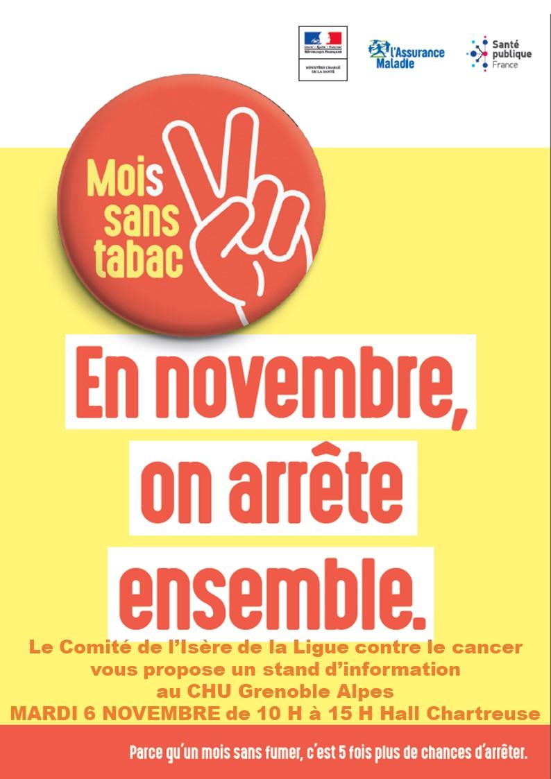 Mois Sans Tabac CHU Grenoble