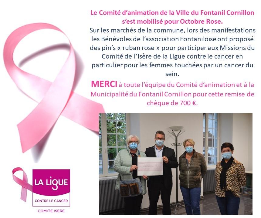 Octobre Rose 2020 Le Fontanil Cornillon