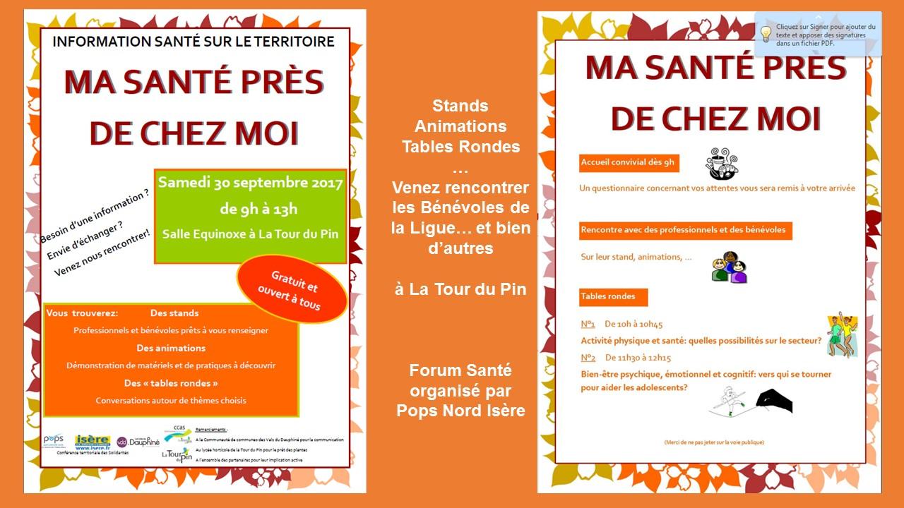 Forum Santé La Tour du Pin 30 septembre 2017