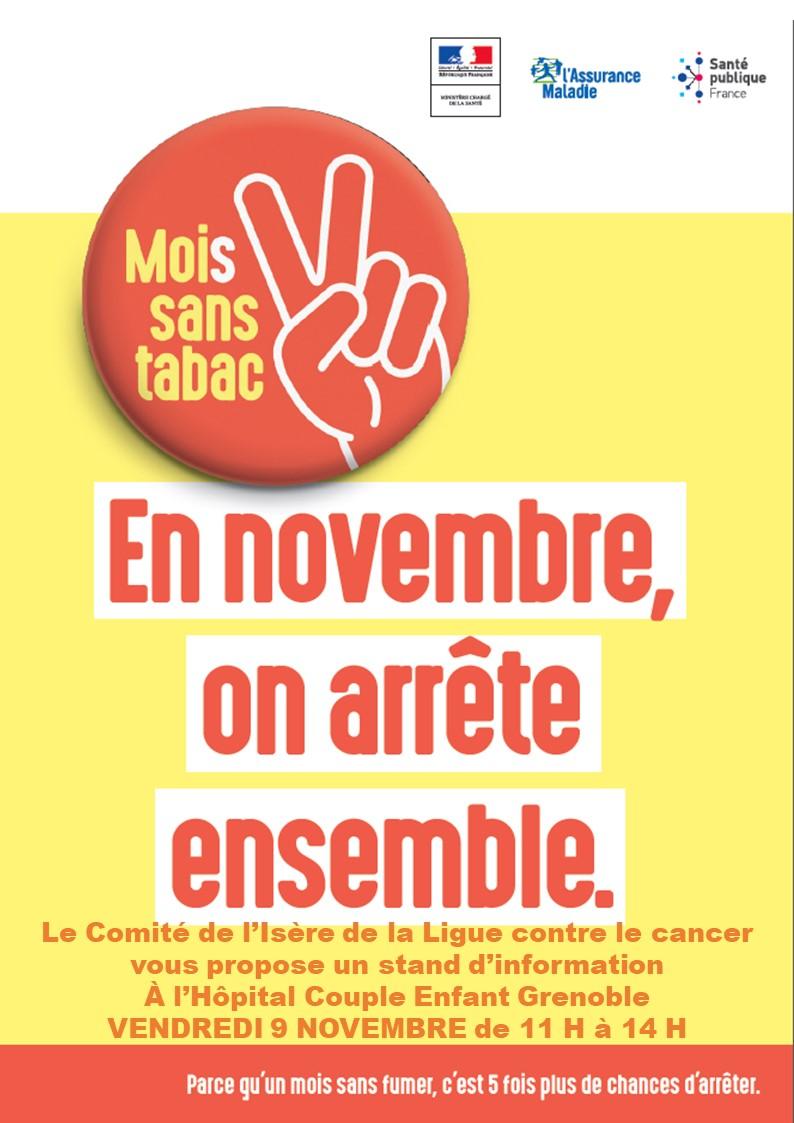 Moi(s) Sans Tabac Hôpital Couple Enfant Grenoble