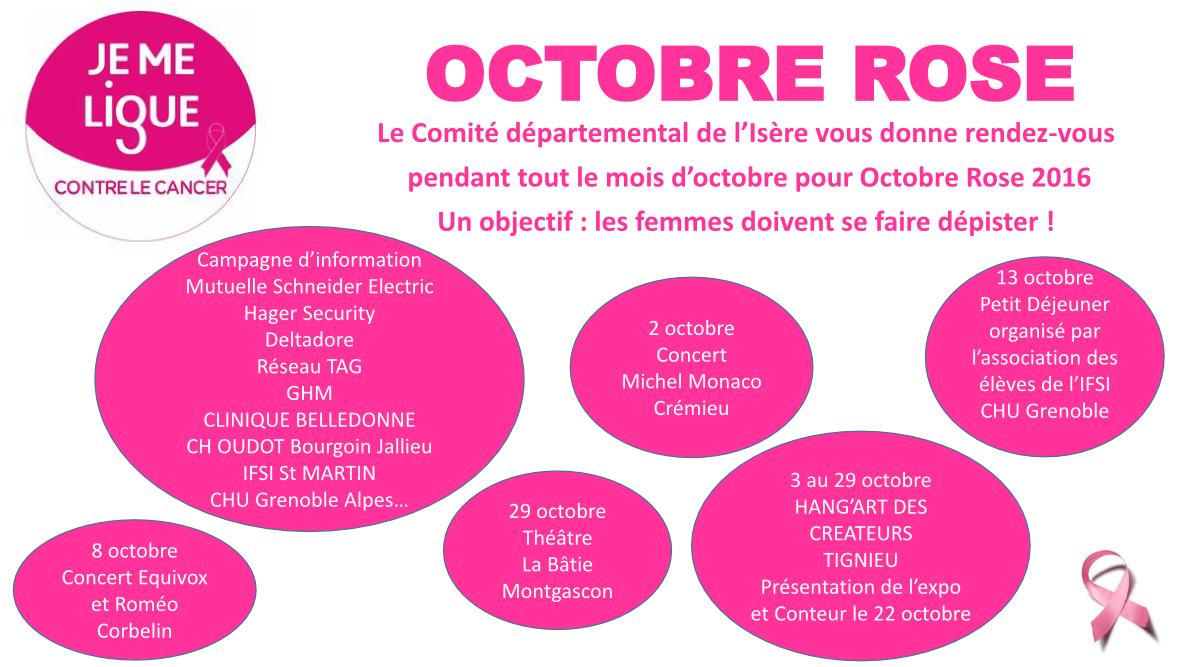 Octobre Rose en Isère