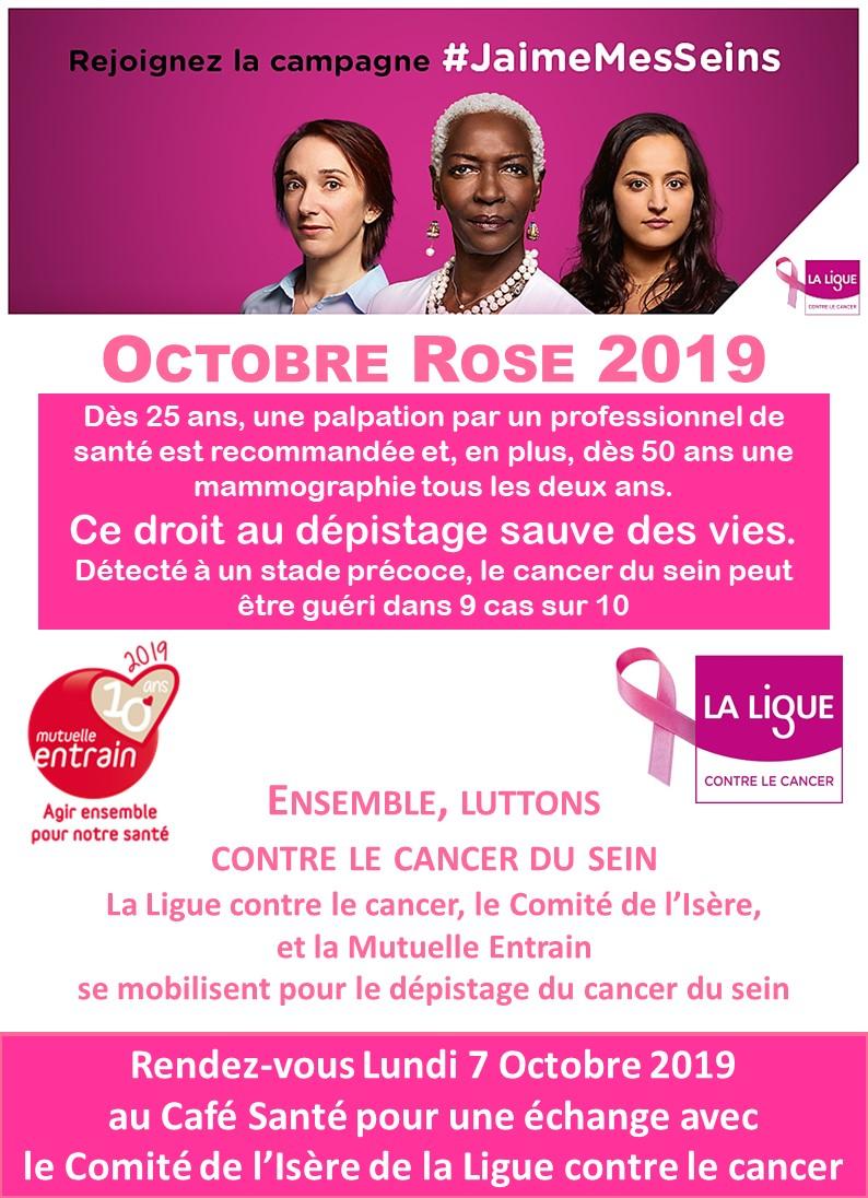 Octobre Rose 2019 et la Mutuelle ENTRAIN