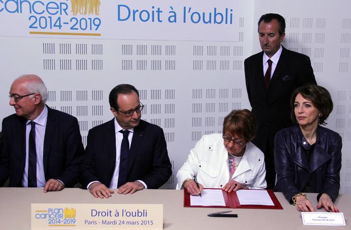 Signature du protocole d'accord sur le droit à l'oubli au siège de la Ligue contre le cancer