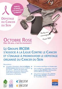 Le groupe Ircem s'associe à la Ligue contre le cancer dans le cadre d'Octobre Rose