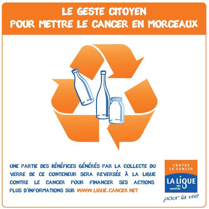 Recyclage du verre, le geste citoyen pour mettre le cancer en morceaux