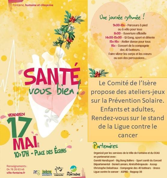 Prévention Solaire à Fontaine 17 mai 2019