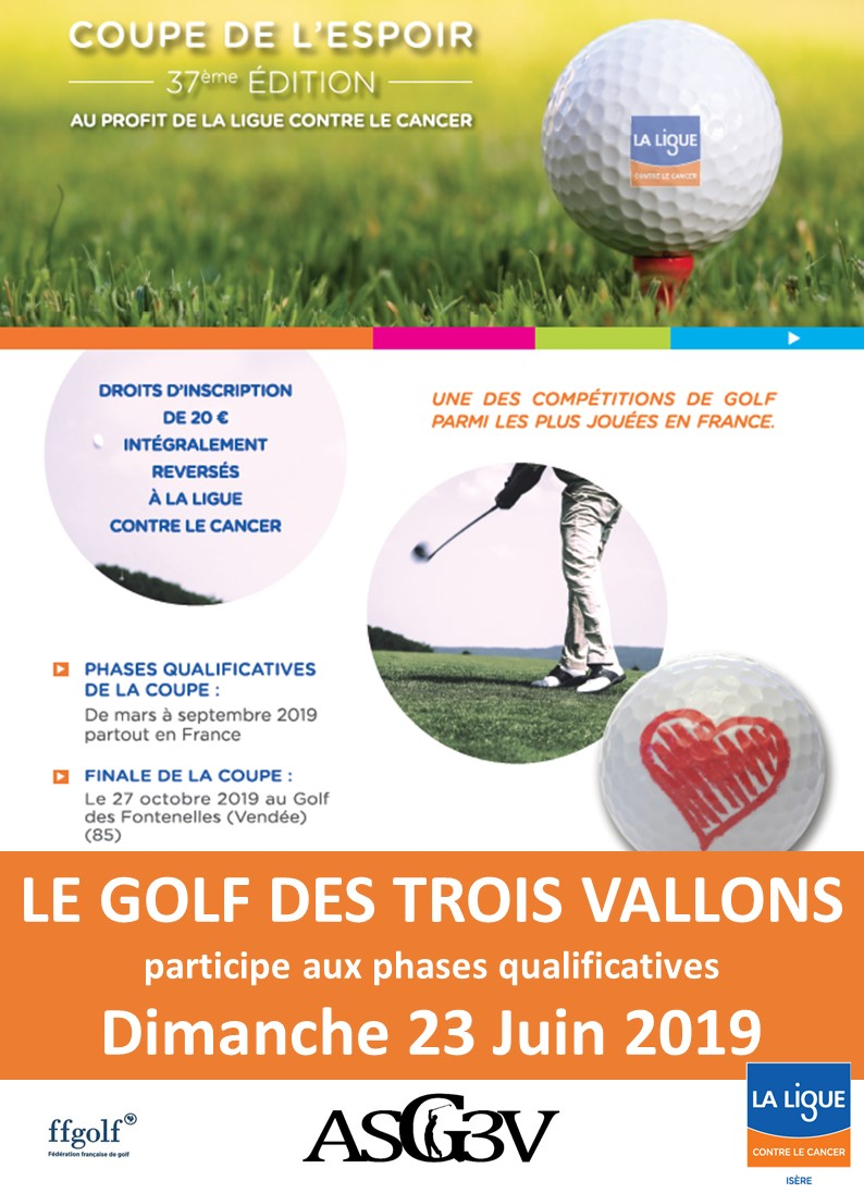 Coupe de l'Espoir 2019 Golf Trois Vallons