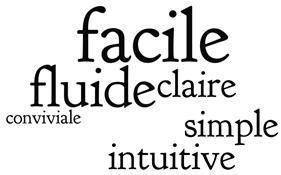 facile fluide claire simple intuitive conviviale