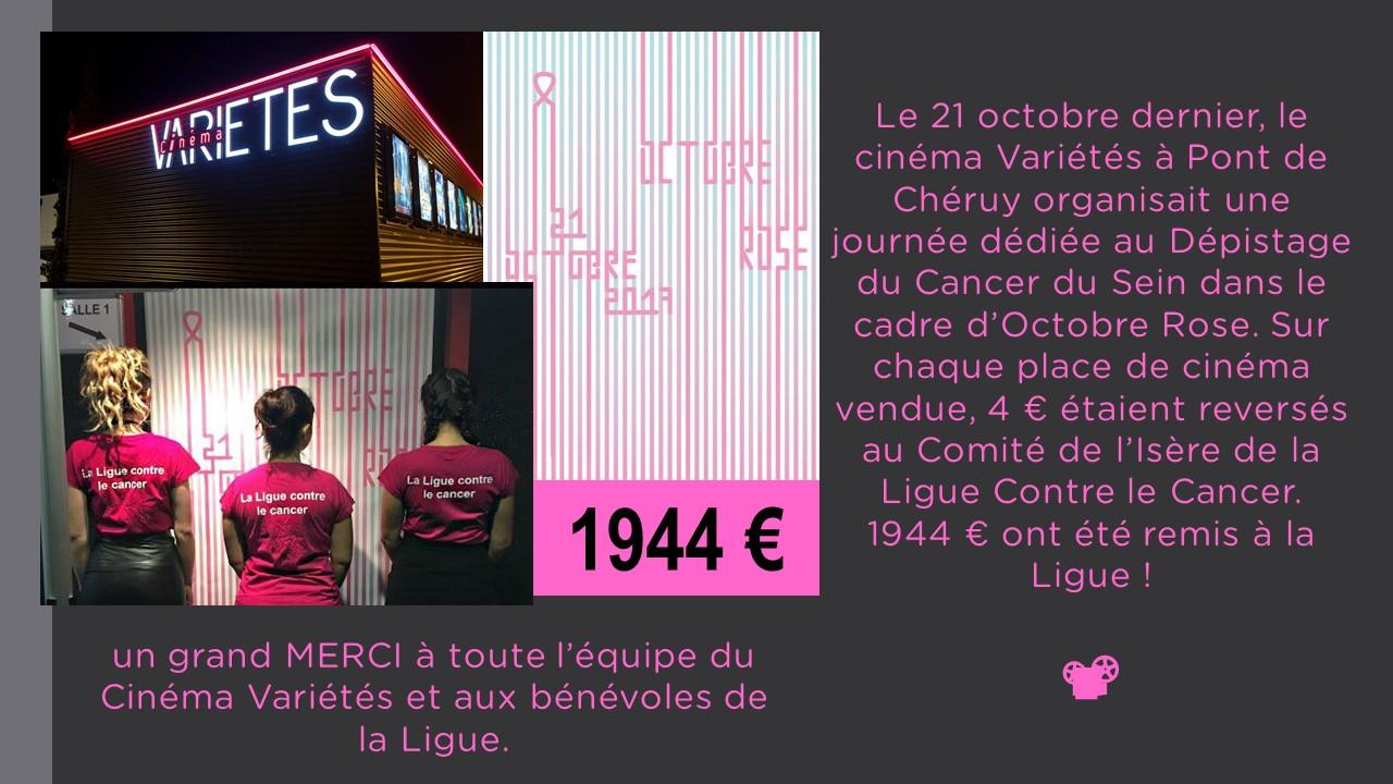 cinéma Variétés Pont de Chéruy Octobre Rose