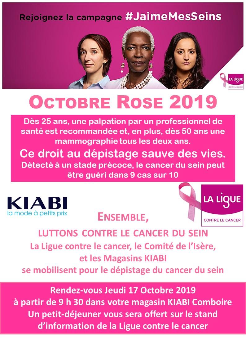 Octobre Rose 2019 Kiabi Comboire Echirolles