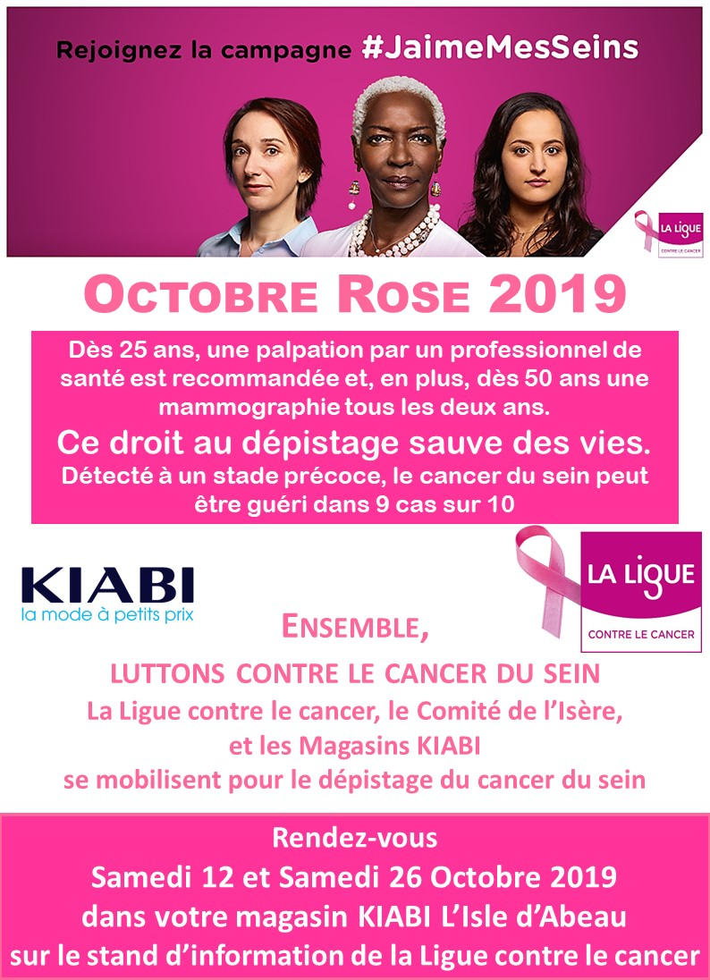 Octobre Rose 2019 Kiabi L'Isle d'Abeau