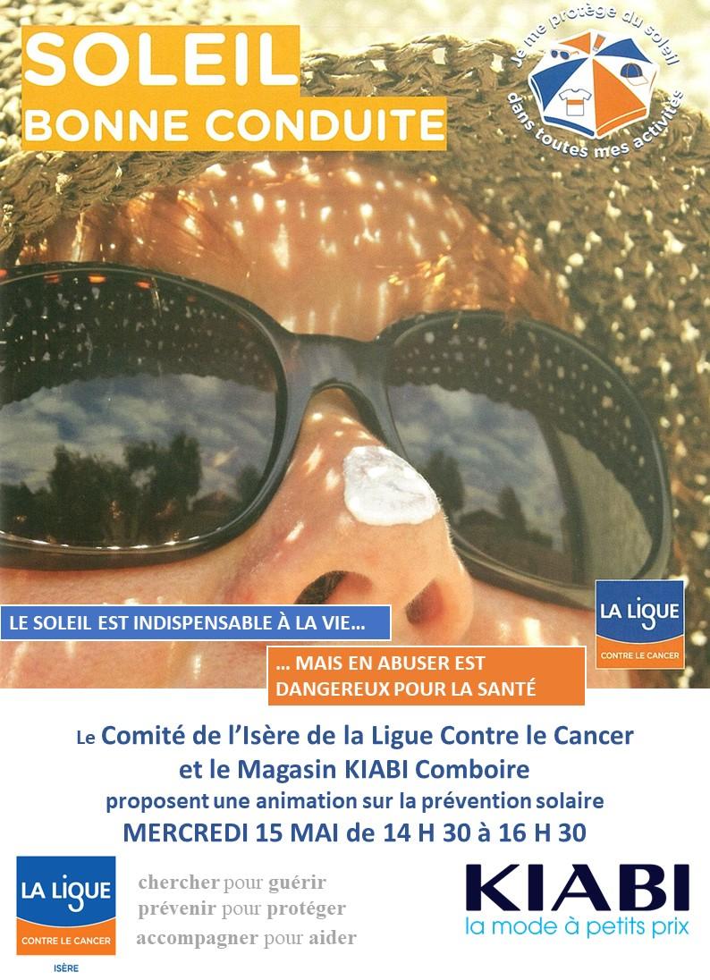 Prévention solaire au magasin Kiabi Comboire