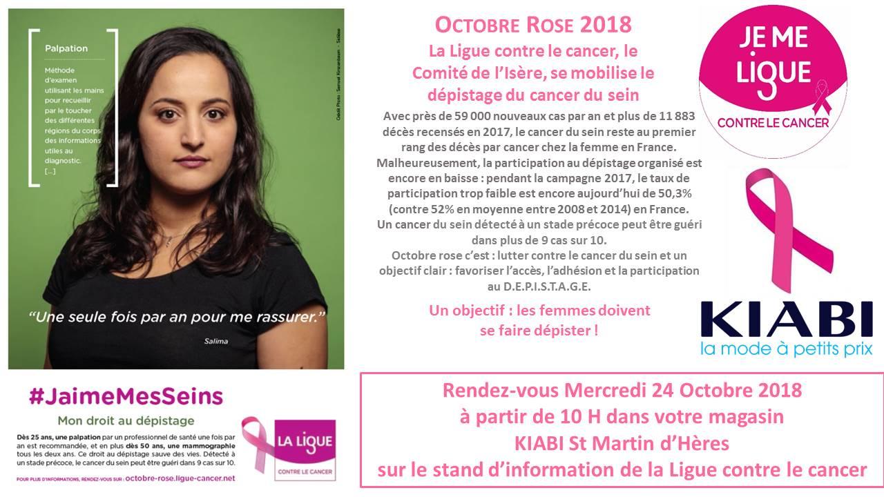 Octobre Rose La Ligue et KIABI St Martin d'Heres