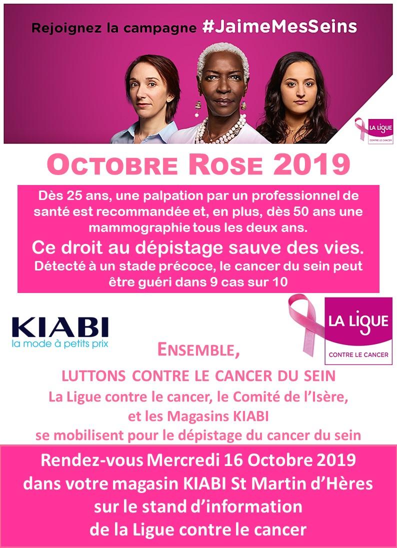 Octobre Rose 2019 Kiabi St Martin d'Hères