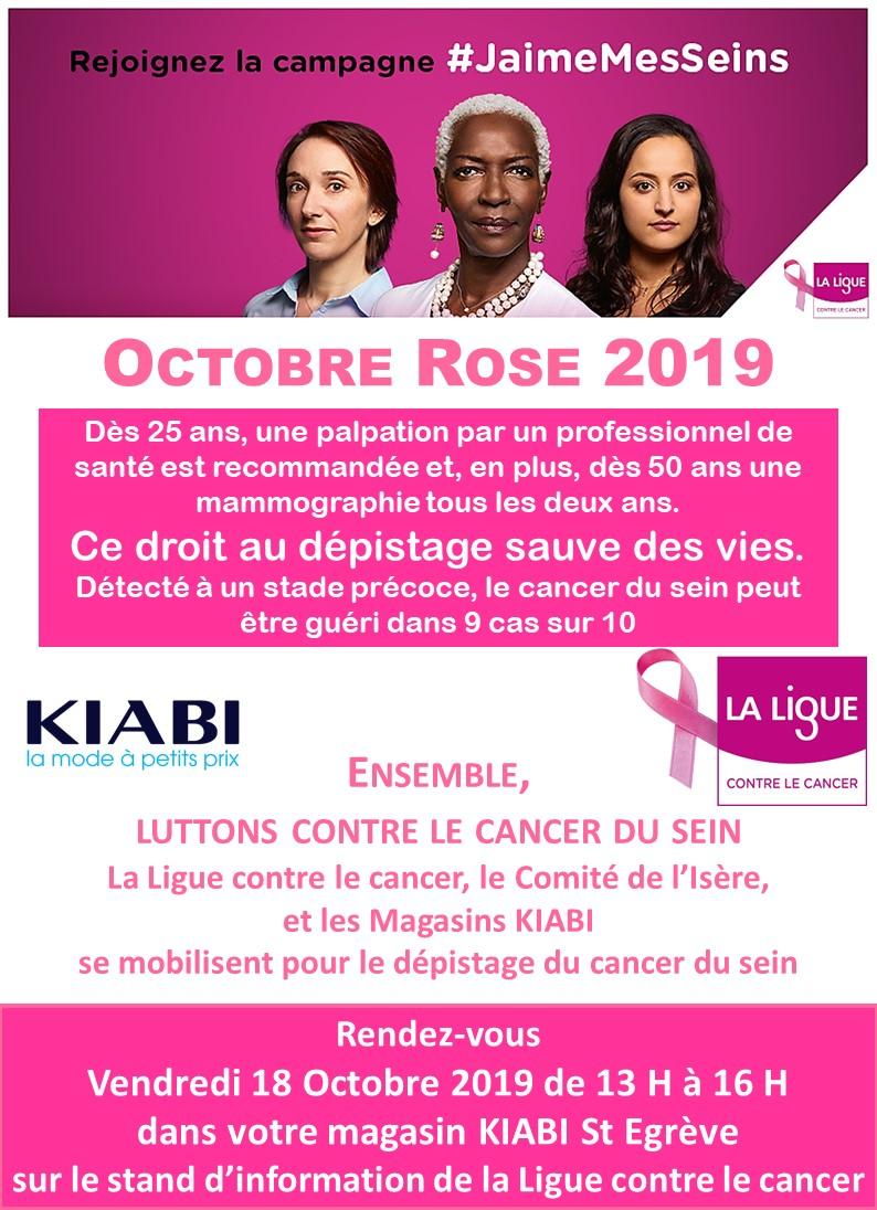 Octobre Rose 2019 KIABI St Egreve