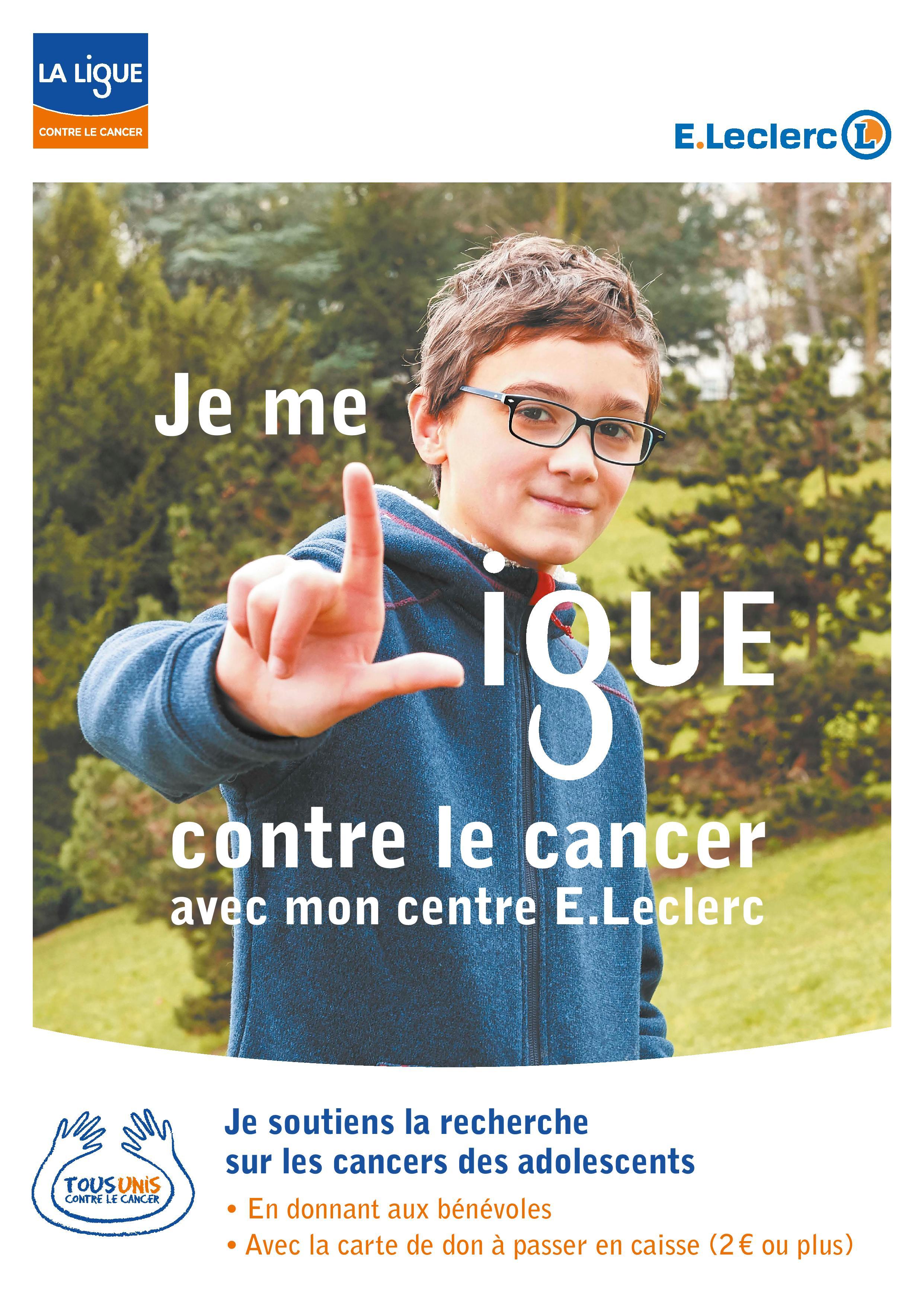 Affiche Tous Unis contre le Cancer