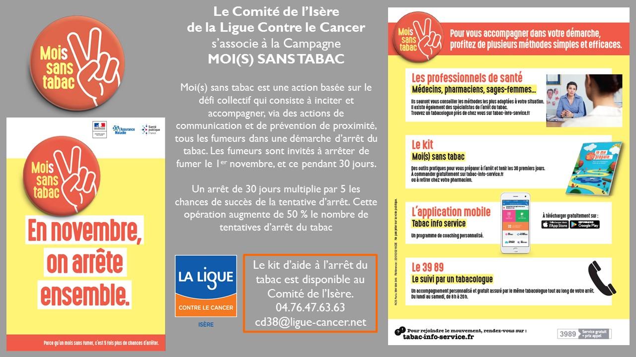 Moi(s) Sans Tabac 2017 en Isère