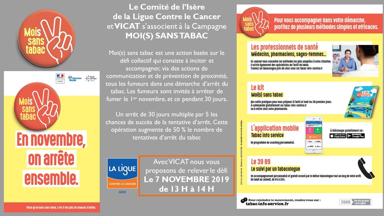 Mois Sans Tabac 2019 Vicat