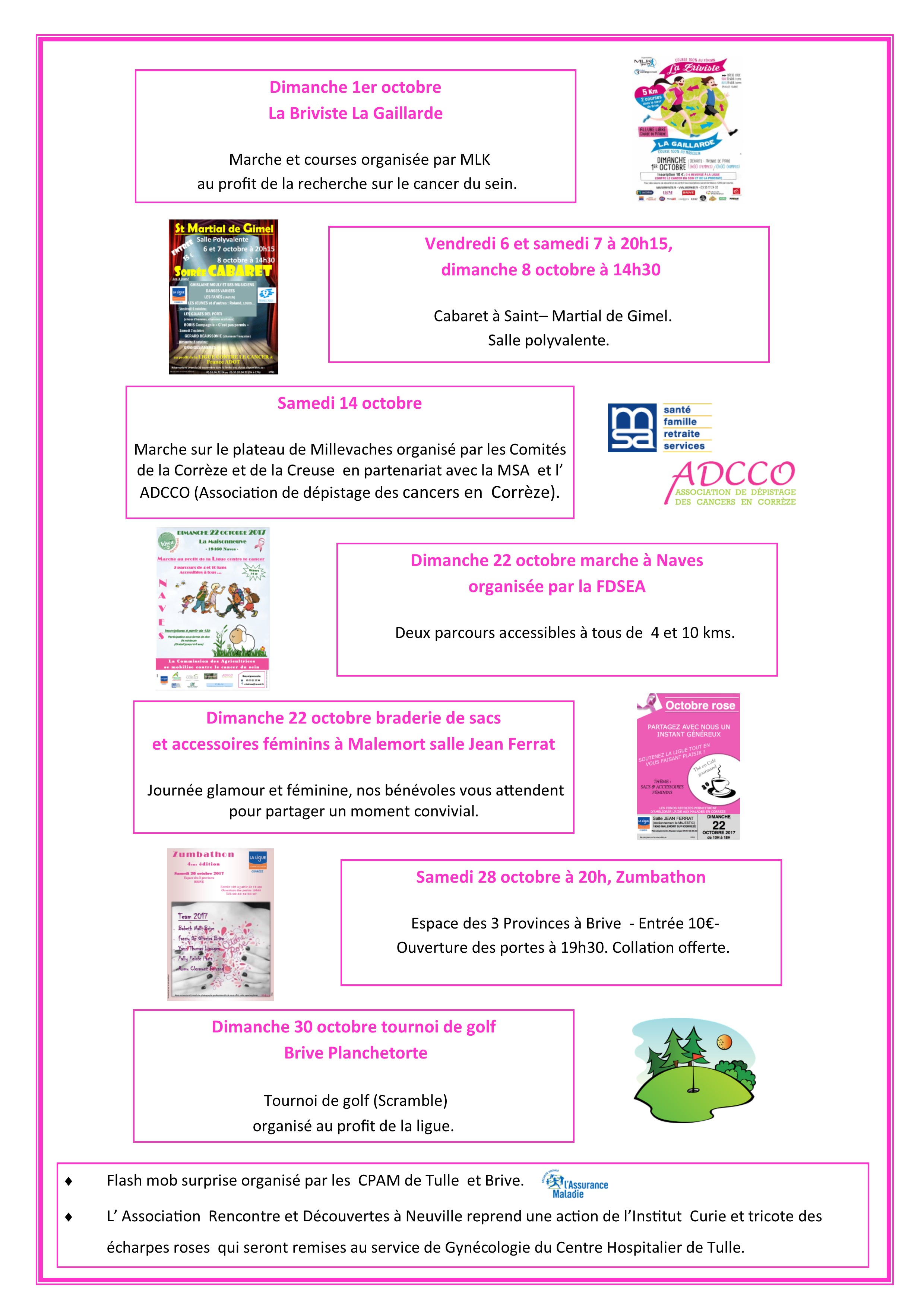 Le programme Octobre rose en Corrèze