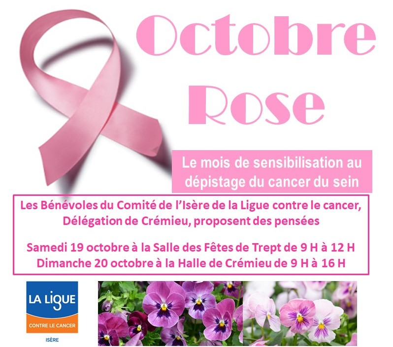 octobre rose à Crémieu et Trept