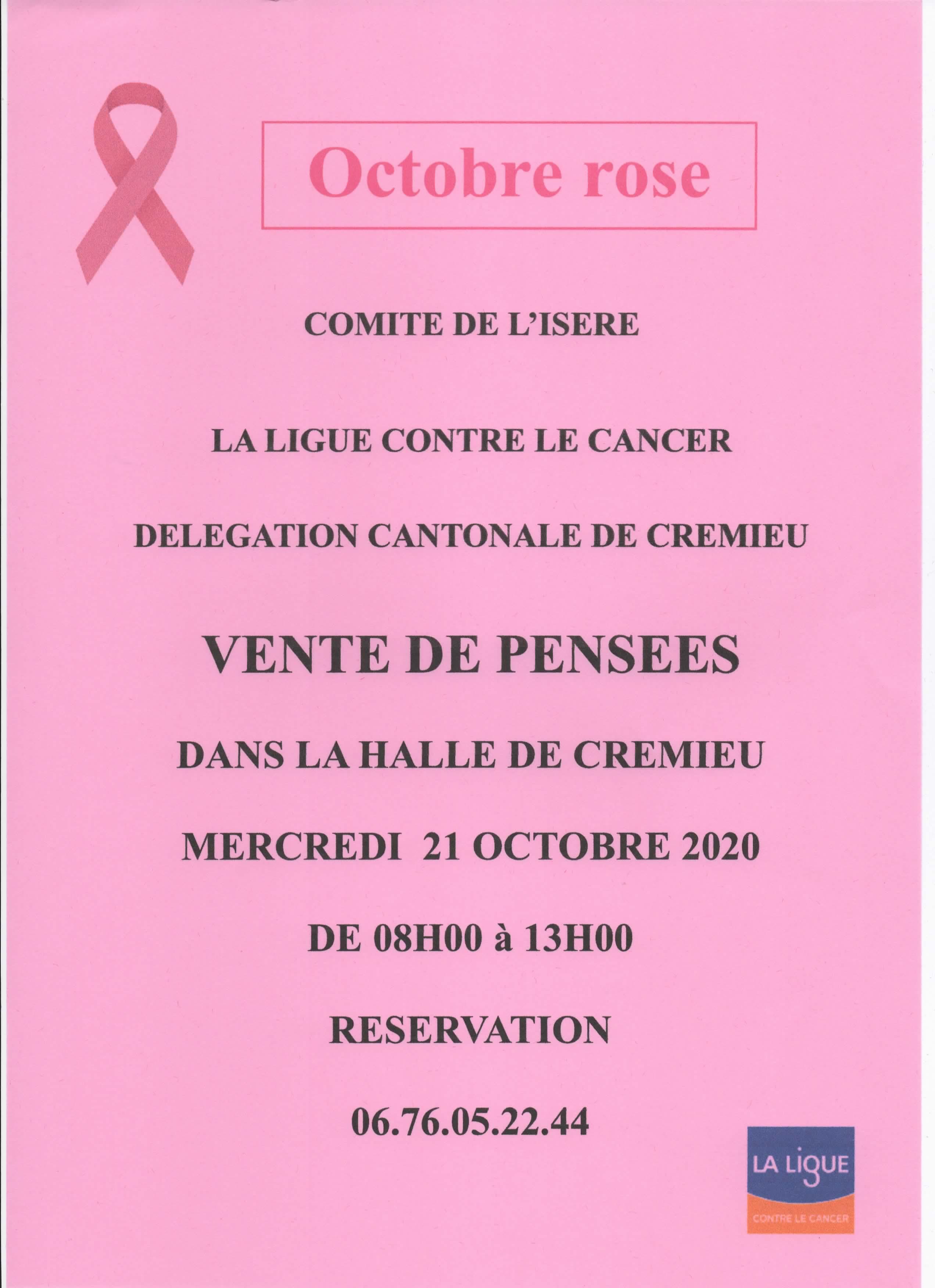 Octobre Rose Crémieu 21 octobre 2020