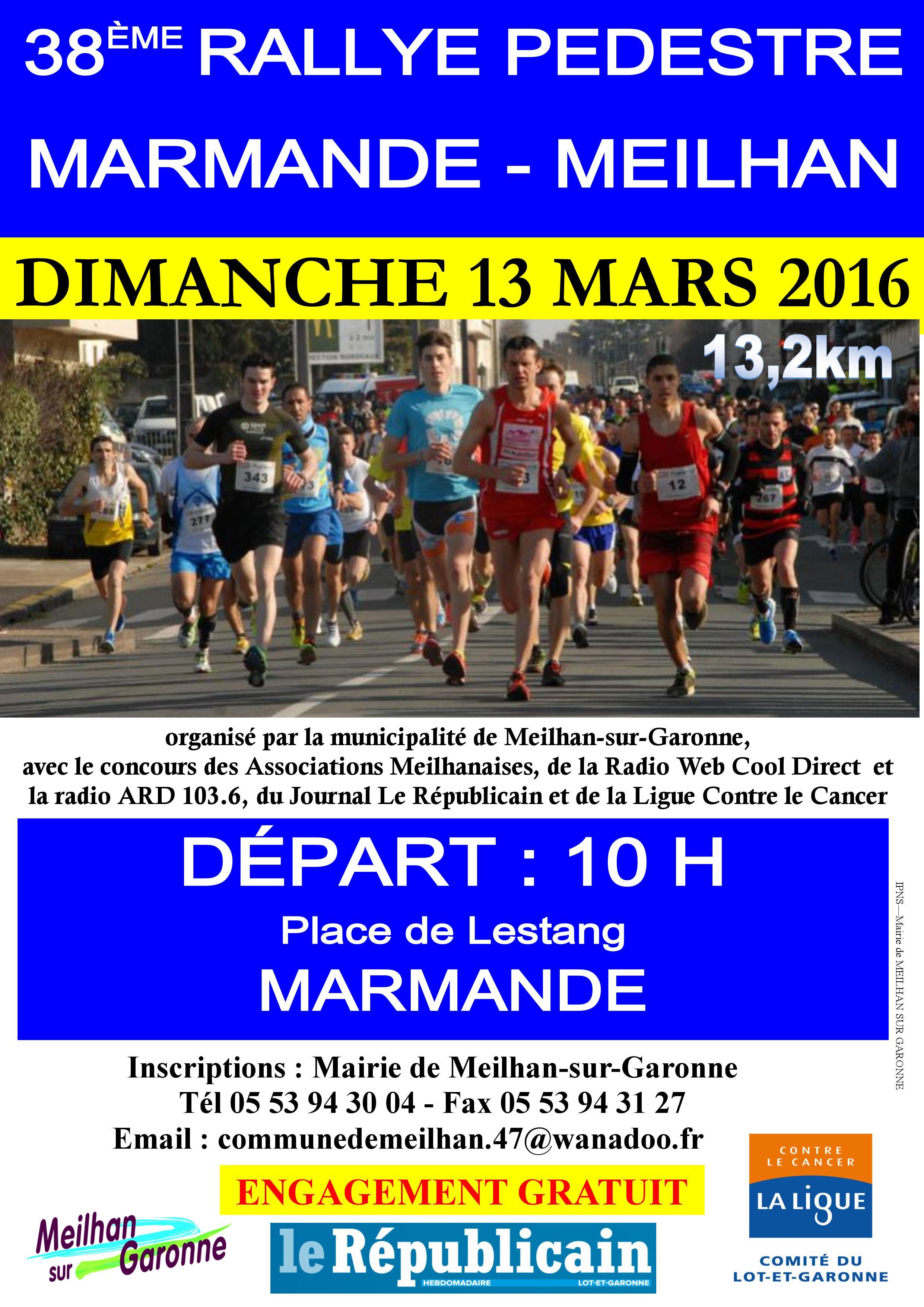Calendrier Randonnee Pedestre Lot Et Garonne.38eme Rallye Pedestre Marmande Meilhan Ligue Contre Le