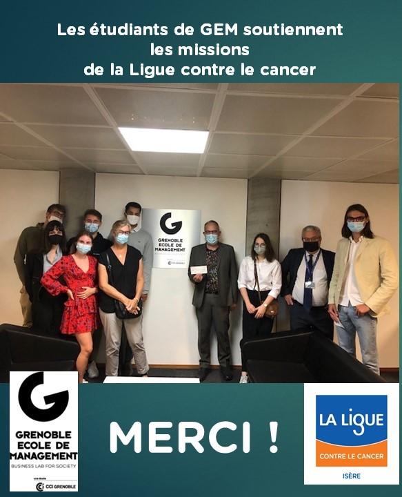 étudiants GEM et Ligue contre le cancer