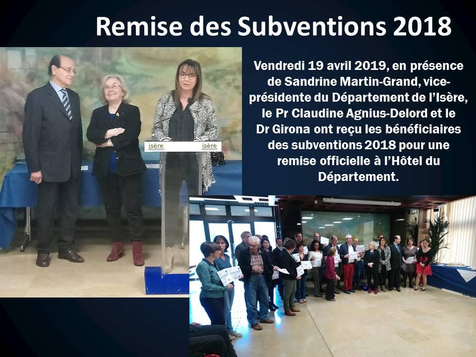 Remise des Subventions 2018