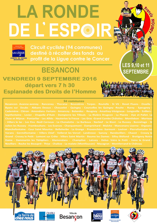Affiche Ronde de l'Espoir 2016