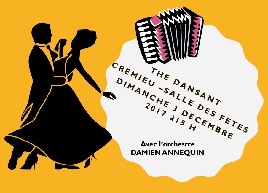 Thé dansant Crémieu 3 décembre 2017
